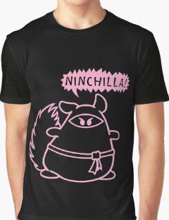 The Ninja Chinchilla - Pink Graphic T-Shirt