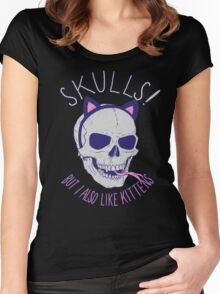 Skulls and Kittens Women's Fitted Scoop T-Shirt