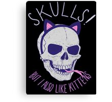 Skulls and Kittens Canvas Print