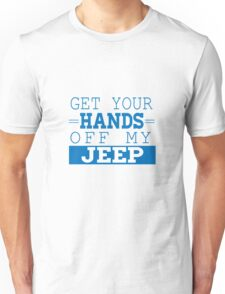 "Stiles Stilinski Yearbook Quote ""Get your hands off my jeep"" Unisex T-Shirt"