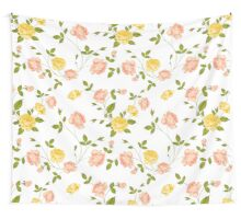 Roses, floral background, seamless pattern. Wall Tapestry