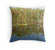 Papyrus Reflections in Okavango Throw Pillow