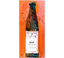 Maine Lunch IPA beer bottle Photographic Print