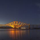 The Forth Rail Bridge at Night - Scotland by Paul Campbell  Photography