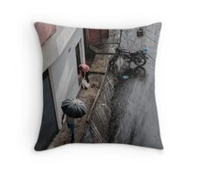 Regen in Caracas Throw Pillow