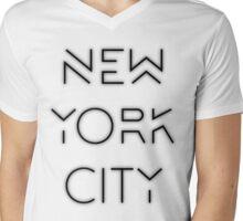 NYC (Black on white version) Mens V-Neck T-Shirt