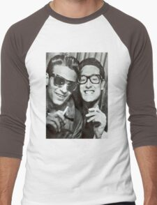 Buddy Holly and Waylon Jennings Men's Baseball ¾ T-Shirt