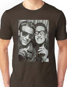 Buddy Holly and Waylon Jennings Unisex T-Shirt
