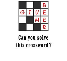 Give me beer - crossword Photographic Print