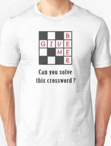 Give me beer - crossword Unisex T-Shirt