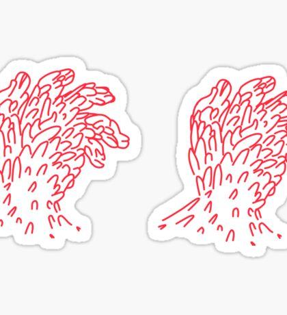 Red Hand Sticker