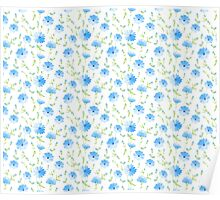 Chicory seamless pattern on white background Poster
