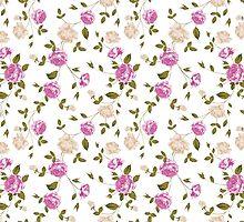 Seamless texture of pastel roses for textiles by Kotkoa