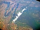 Aerial of Victoria Falls, Africa (4) by Margaret  Hyde