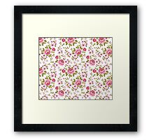 Luxurious color peony seamless pattern Framed Print