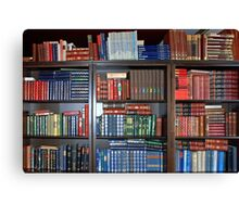 Bookcase full of Dutch reference works Canvas Print