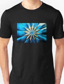 Blue Glass Flower Unisex T-Shirt