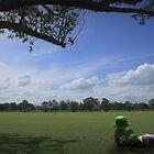 Watching Dad play BIG cricket by myraj