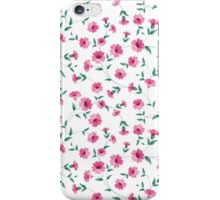 Pink flowers fabric, seampless pattern iPhone Case/Skin