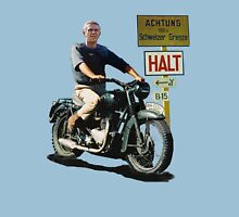 STEVE MCQUEEN GREAT ESCAPE HALT SIGN Unisex T-Shirt