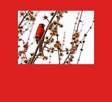 Northern Red Cardinal Womens Fitted T-Shirt