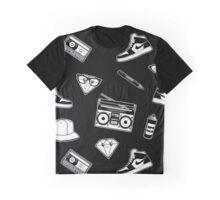 Old Skool Hip Hop Design Graphic T-Shirt