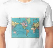 Vintage Map of The World (1897) Unisex T-Shirt