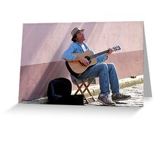 Happy Musician Catching Some Rays Greeting Card