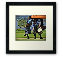 Oops! yer kilt's caught on the rope Framed Print