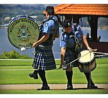 Oops! yer kilt's caught on the rope Photographic Print