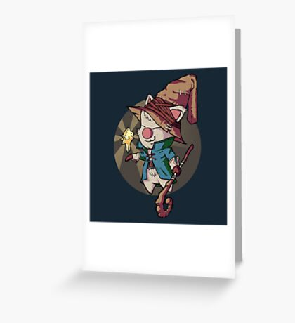 Final Fantasy Wizard Moogle Greeting Card
