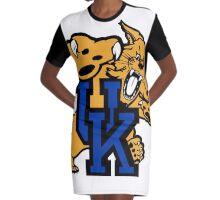 Kentucy Wildcats Logo Graphic T-Shirt Dress