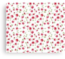Pink flowers fabric, seampless pattern Canvas Print
