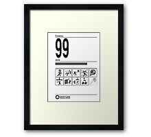 99 Problems Portal Testing Chamber Framed Print