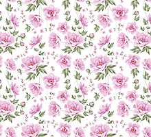 Floral tile pattern for vintage design by Kotkoa