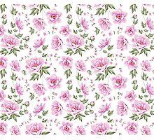 Floral tile pattern for vintage design Photographic Print