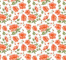 Design of vintage floral pattern. by Kotkoa