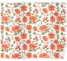 Design of vintage floral pattern. Poster
