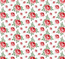 Rose seamless pattern for floral background by Kotkoa
