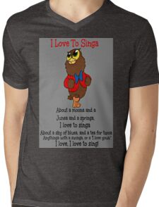 Owl Jolson  I love to Singa! Mens V-Neck T-Shirt