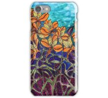 Flowers orange iPhone Case/Skin