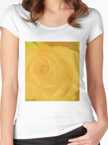Big Yellow Rose Women's Fitted Scoop T-Shirt