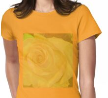 Big Yellow Rose Womens Fitted T-Shirt