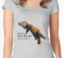 2016 Red Panda Day Women's Fitted Scoop T-Shirt