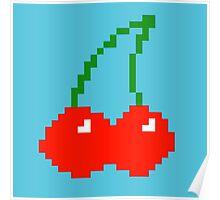 Pixel Cherry Poster