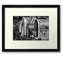 Mail Boxes in Baddeck Framed Print