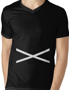 Team Skull Design Mens V-Neck T-Shirt