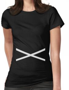 Team Skull Design Womens Fitted T-Shirt