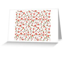 Bindweed , floral background, seamless pattern Greeting Card