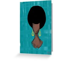 Afro Goddess Greeting Card